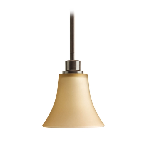 Progress Lighting Progress Mini-Pendant Light with Brown Glass P5270-20