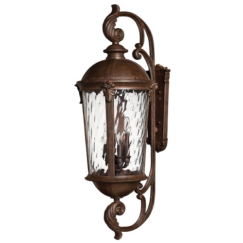 Hinkley Lighting Outdoor Wall Light with Clear Glass in River Rock Finish 1929RK
