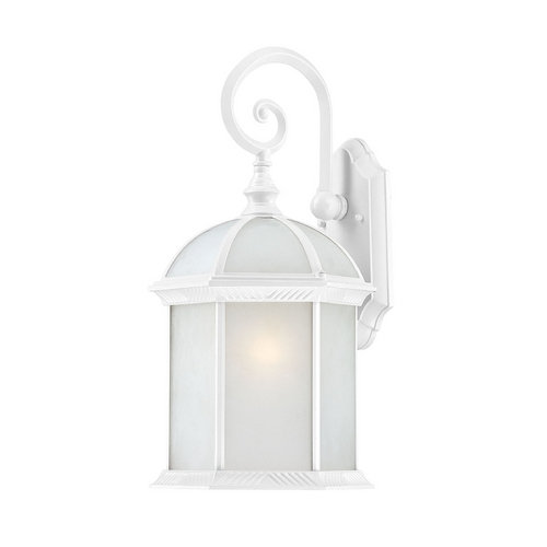Nuvo Lighting Outdoor Wall Light with White Glass in White Finish 60/4987
