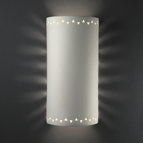 Justice Design Group Sconce Wall Light in Bisque Finish CER-9020-BIS