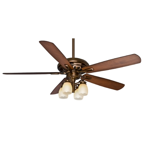 Casablanca Fan Co Casablanca Fan Holliston Gallery Bronze Patina Ceiling Fan with Light 59536