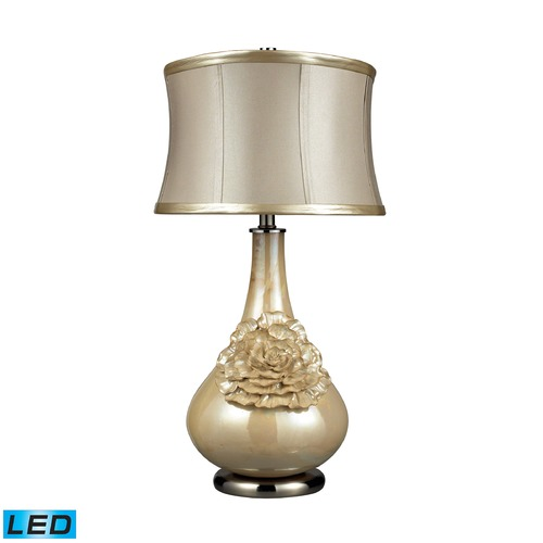Dimond Lighting Dimond Lighting Pearlescent Cream LED Table Lamp with Drum Shade D2115-LED