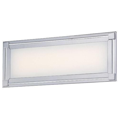 George Kovacs Lighting George Kovacs Framed Chrome LED Bathroom Light P1162-077-L