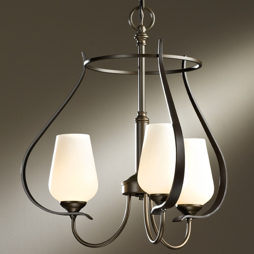 Hubbardton Forge Lighting Hubbardton Forge Lighting Flora Bronze Mini-Chandelier 103047-05-ZX303