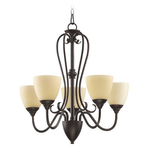 Quorum Lighting Quorum Lighting Powell Toasted Sienna Chandelier 6008-5-44