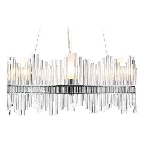 Golden Lighting Golden Lighting Luciano Chrome Pendant Light with Cylindrical Shade 4015-3 CH