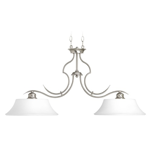 Progress Lighting Progress Lighting Applause Brushed Nickel Island Light with Bell Shade P4321-09