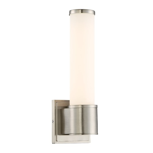 Designers Fountain Lighting Designers Fountain Linden Satin Platinum LED Sconce LED6871-SP