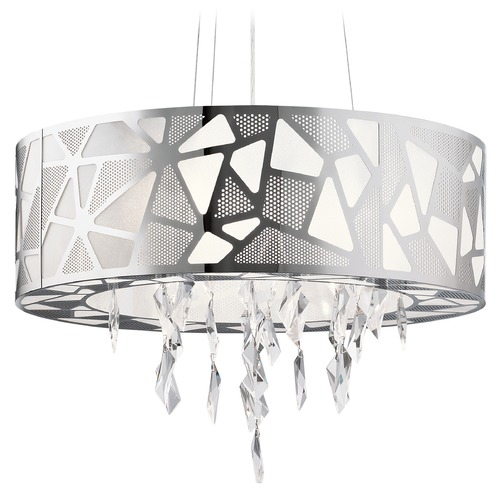 Elan Lighting Elan Lighting Angelique Chrome Pendant Light 83675