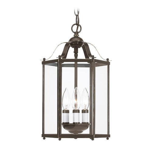 Sea Gull Lighting Sea Gull Lighting Bretton Heirloom Bronze LED Pendant Light with Hexagon Shade 5231EN-782