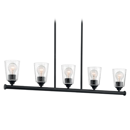 Satco Lighting Satco Lighting Bransel Matte Black Island Light with Conical Shade 60/7286