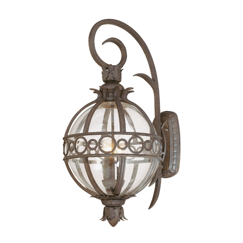 Troy Lighting Seeded Glass Outdoor Wall Light Bronze Troy Lighting B5003CB