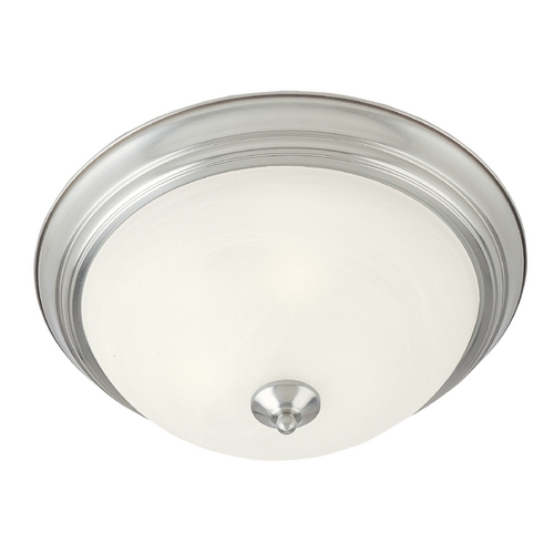 Maxim Lighting Maxim Lighting Essentials Satin Nickel Flushmount Light 5849MRSN