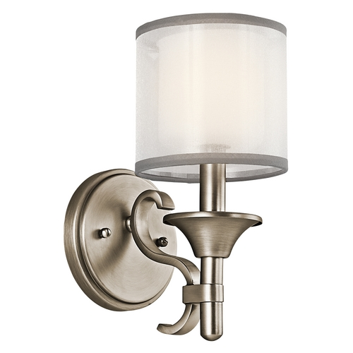 Kichler Lighting Kichler Sconce with White Glass in Antique Pewter Finish 45281AP