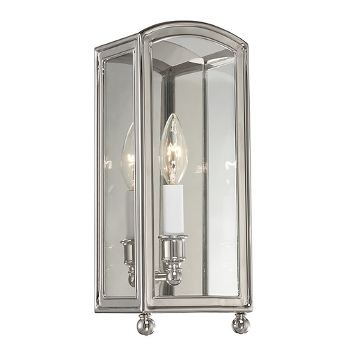 Hudson Valley Lighting Sconce Wall Light with Clear Glass in Polished Nickel Finish 8401-PN