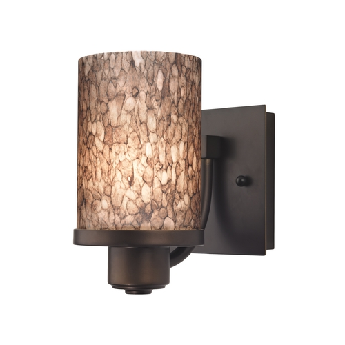 Design Classics Lighting Modern Sconce Wall Light in Bronze Finish 589-220 GL1016C