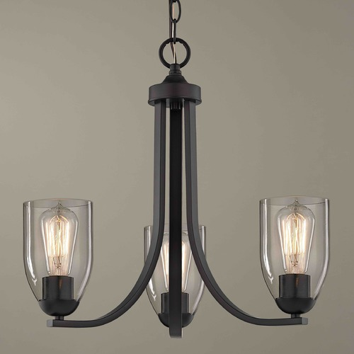 Design Classics Lighting Design Classics Dalton Fuse Neuvelle Bronze Mini-Chandelier 5843-220 GL1040D