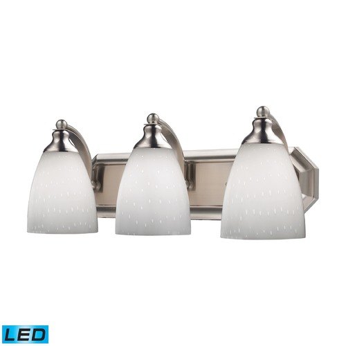 Elk Lighting Elk Lighting Bath and Spa Satin Nickel LED Bathroom Light 570-3N-WH-LED