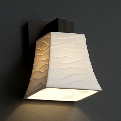 Justice Design Group Justice Design Group Limoges Collection Sconce POR-8921-40-WAVE-DBRZ