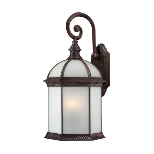 Nuvo Lighting Outdoor Wall Light with White Glass in Rustic Bronze Finish 60/4988