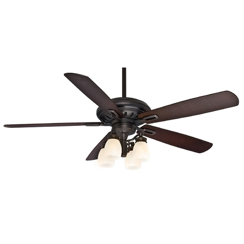 Casablanca Fan Co Casablanca Fan Holliston Gallery Bullion Black Ceiling Fan with Light 59537
