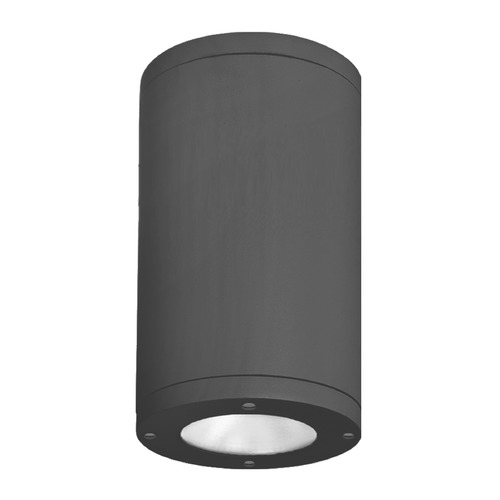 WAC Lighting 6-Inch Black LED Tube Architectural Flush Mount 3500K 2500LM DS-CD06-S35-BK