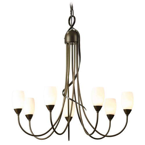 Hubbardton Forge Lighting Hubbardton Forge Lighting Flora Bronze Chandelier 103049-05-G444