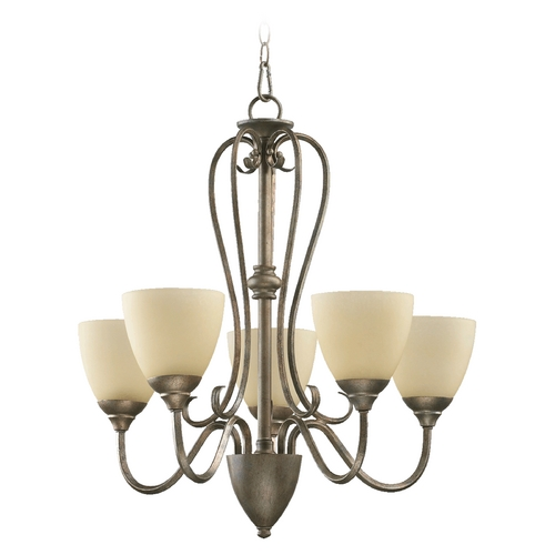 Quorum Lighting Quorum Lighting Powell Mystic Silver Chandelier 6008-5-58
