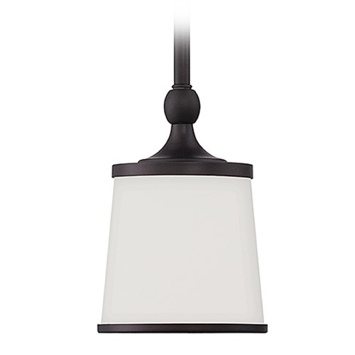 Savoy House Savoy House English Bronze Mini-Pendant Light with Empire Shade 7-4387-1-13