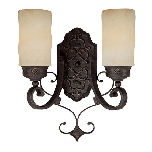 Capital Lighting Capital Lighting River Crest Rustic Iron Sconce 1907RI-125