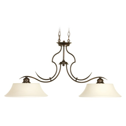Progress Lighting Progress Lighting Applause Antique Bronze Island Light with Bell Shade P4321-20