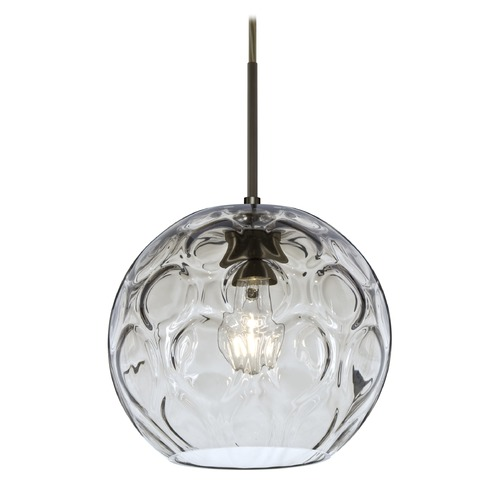 Besa Lighting Besa Lighting Bombay Bronze Mini-Pendant Light with Globe Shade 1JT-BOMYCL-BR