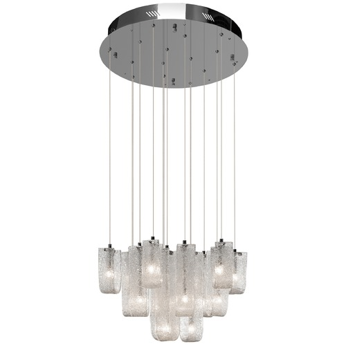 Elan Lighting Elan Lighting Zanne Chrome Pendant Light with Bell Shade 83094