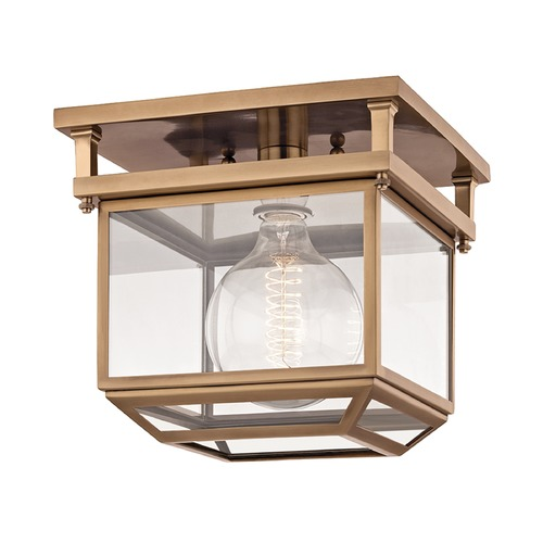 Hudson Valley Lighting Hudson Valley Lighting Rutherford Aged Brass Semi-Flushmount Light 5611-AGB