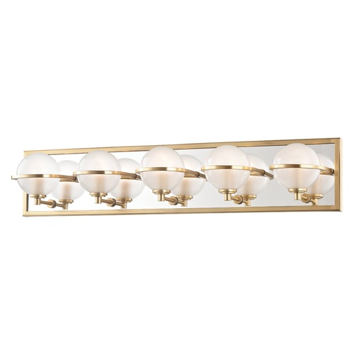 Hudson Valley Emergency Lighting: Hudson Valley Lighting Axiom Aged Brass LED Bathroom Light