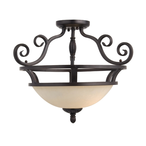 Maxim Lighting Maxim Lighting Manor Oil Rubbed Bronze Semi-Flushmount Light 12201FIOI