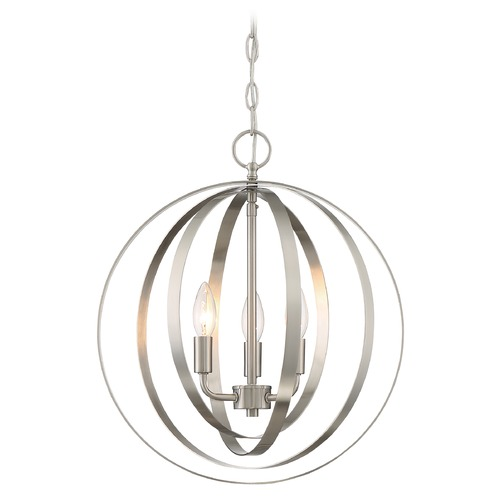 Satco Lighting Satco Lighting Pendleton Brushed Nickel Pendant Light 60/7047