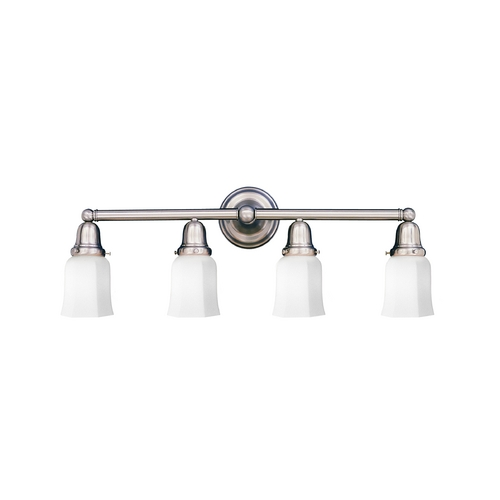 Hudson Valley Lighting Bathroom Light with White Glass in Polished Nickel Finish 864-PN-119