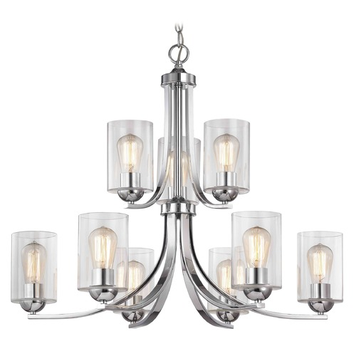 Design Classics Lighting Design Classics Dalton Fuse Chrome Chandelier 586-26 GL1040C