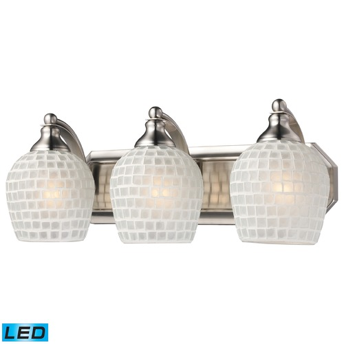 Elk Lighting Elk Lighting Bath and Spa Satin Nickel LED Bathroom Light 570-3N-WHT-LED