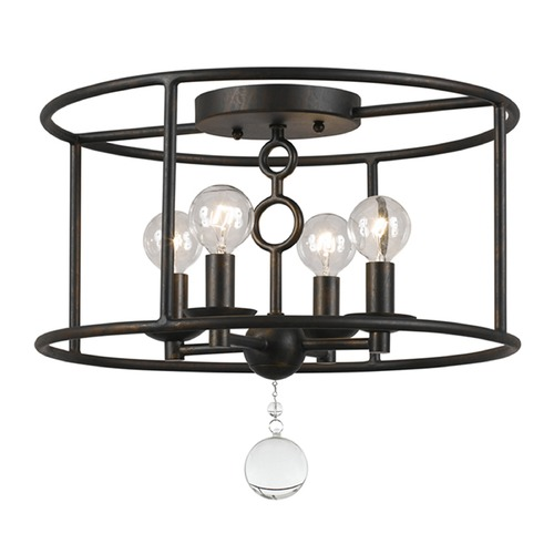 Crystorama Lighting Crystorama Lighting Cameron English Bronze Semi-Flushmount Light 9267-EB