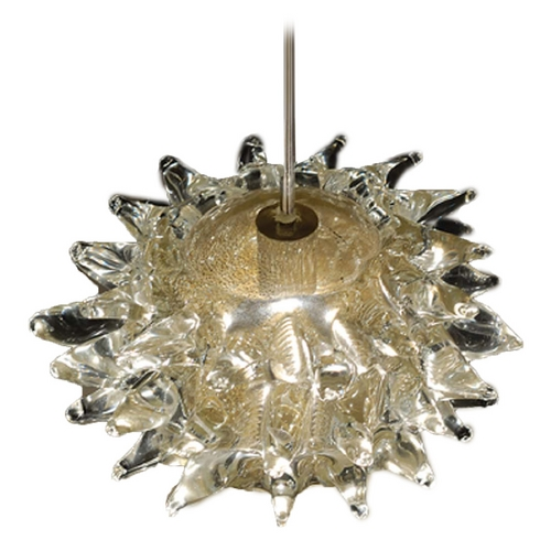 WAC Lighting Wac Lighting European Collection Brushed Nickel Mini-Pendant MP-924-GL/BN