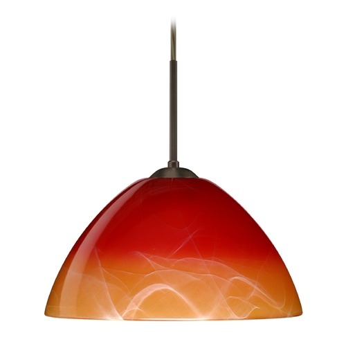Besa Lighting Besa Lighting Tessa Bronze LED Pendant Light 1JT-4201SL-LED-BR