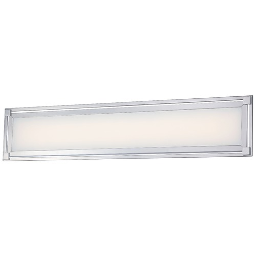 George Kovacs Lighting George Kovacs Framed Chrome LED Bathroom Light P1164-077-L