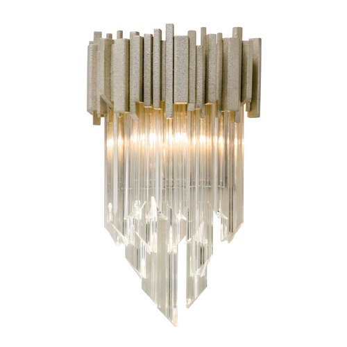 Corbett Lighting Corbett Lighting Mystique Modern Silver Leaf Sconce 226-11