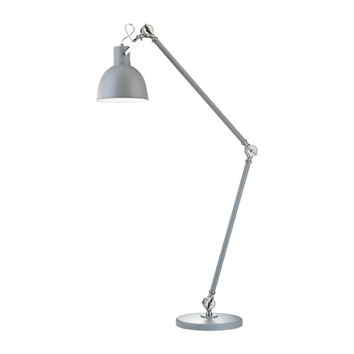 Dimond Lighting Dimond Otto Industrial Grey and Satin Nickel Swing Arm Lamp with Bowl / Dome Shade D2960