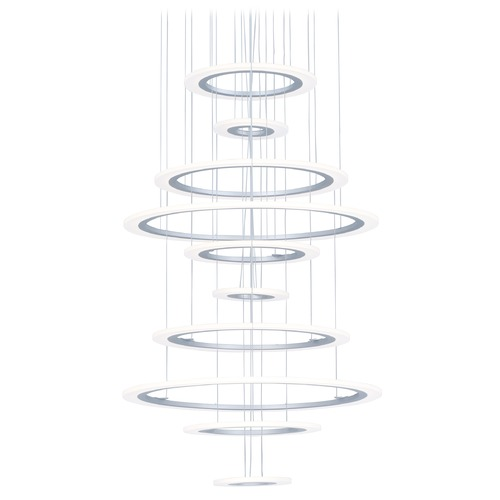 ET2 Lighting ET2 Saturn II LED Matte Silver LED Pendant Light E22665-11MS