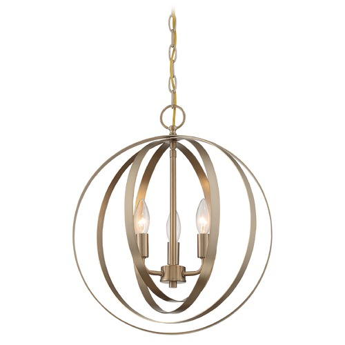 Satco Lighting Satco Lighting Pendleton Burnished Brass Pendant Light 60/7057
