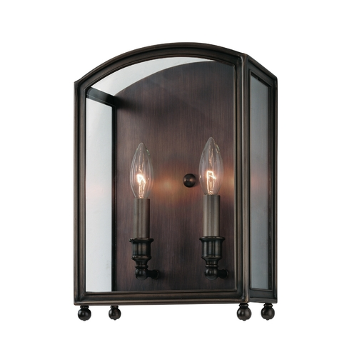 Hudson Valley Lighting Sconce Wall Light with Clear Glass in Distressed Bronze Finish 8402-DB