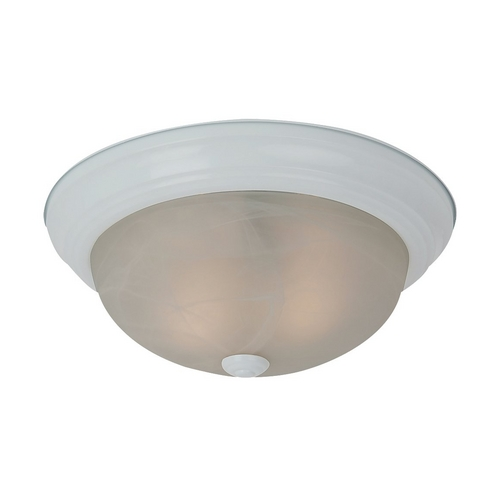 Sea Gull Lighting Flushmount Light with Alabaster Glass in White Finish 75942-15